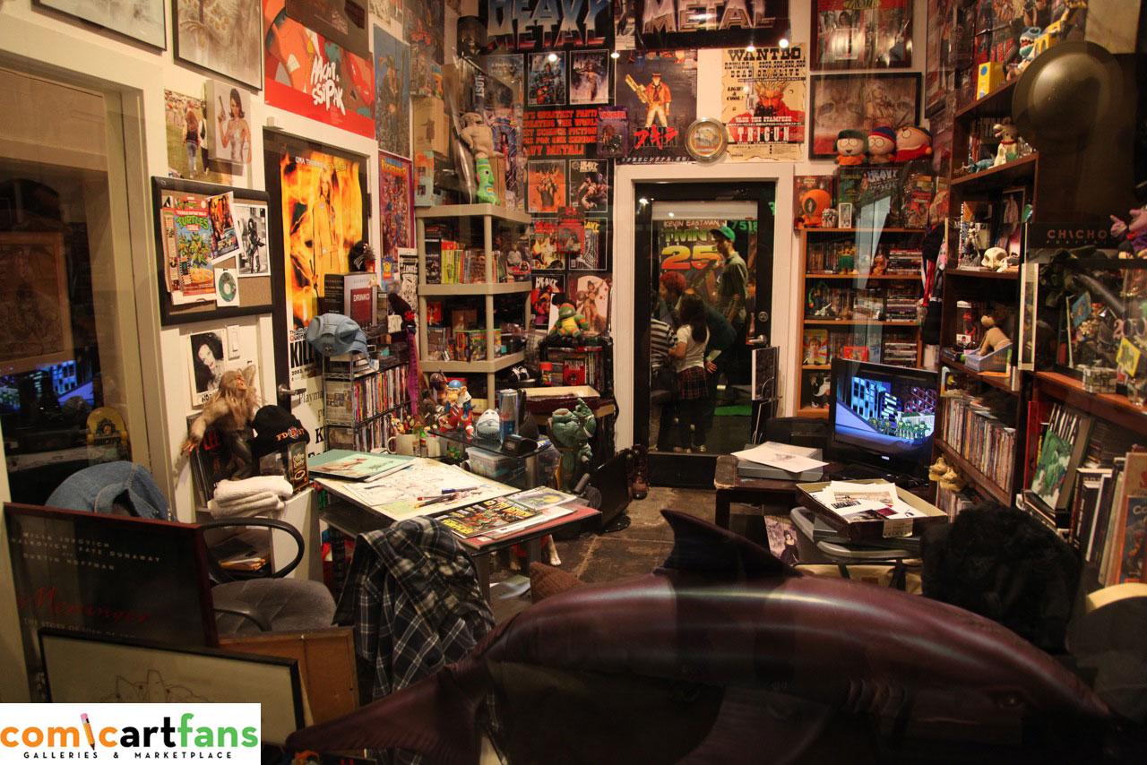 Kevin Eastman Art Studio Auction - Exclusive Photos